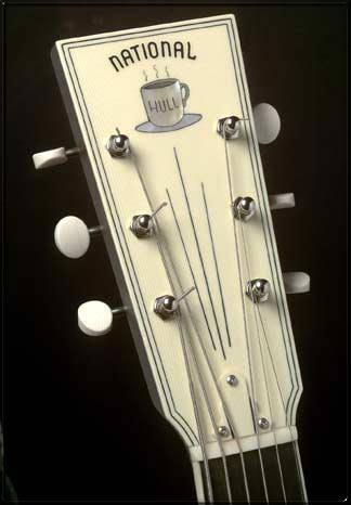 Coffee Cup National Guitar